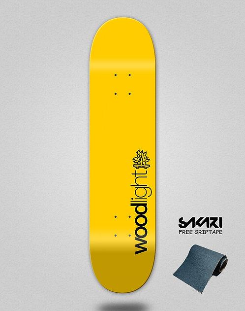 Wood light skate deck Basic yellow