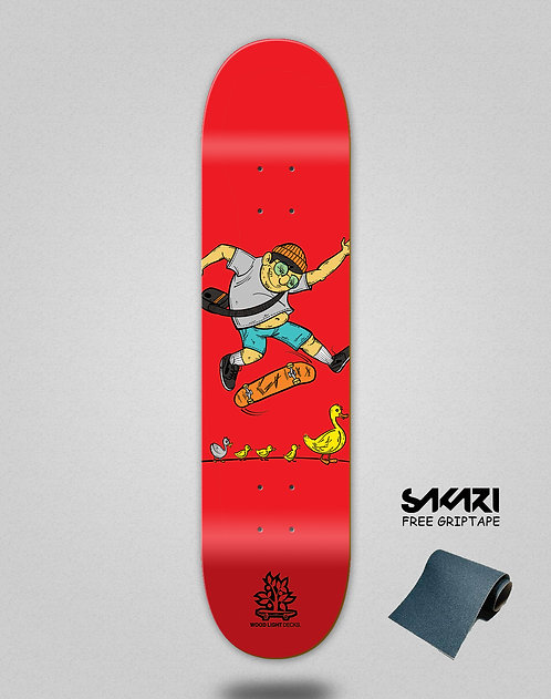 Wood light skate deck Forall red