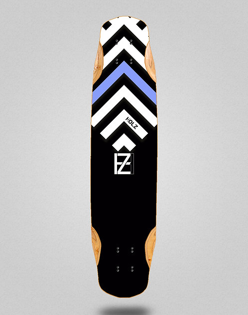 Holz Gram BW Akira black longboard deck 38x8.45
