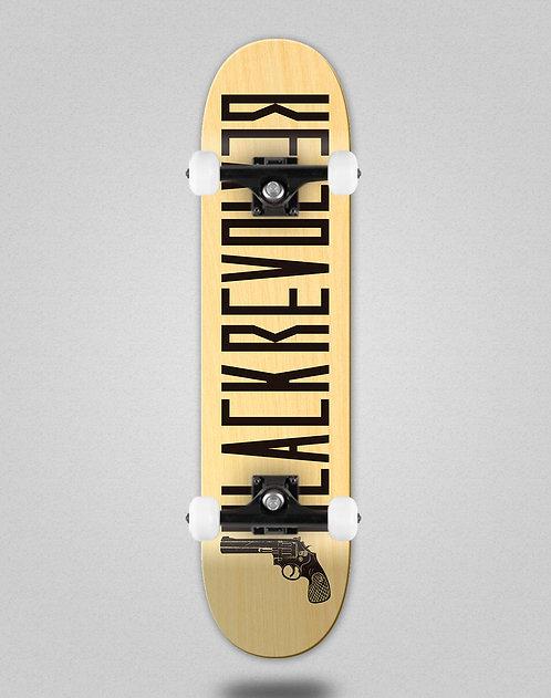 Black Revolver Color wood black skate complete