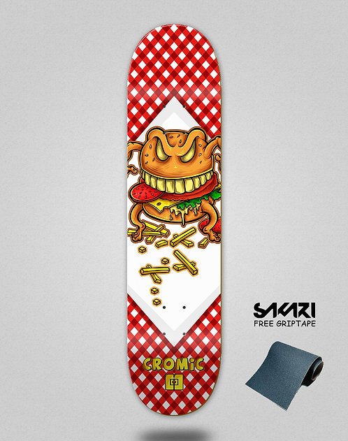 Cromic Burger crazy food skate deck
