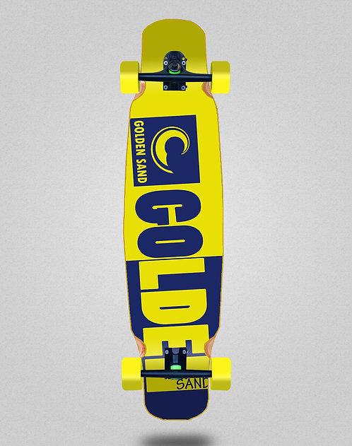 Golden Sand Degraded tone yellow blue longboard dance complete 46x9