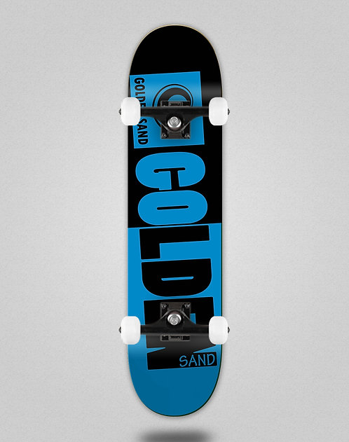 Golden Sand Degraded tone black blue skate complete