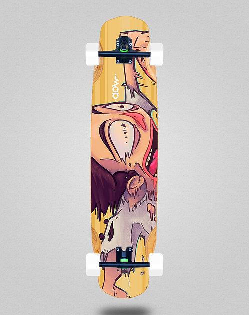 Aow Fastskate yellow longboard complete 38x8.45