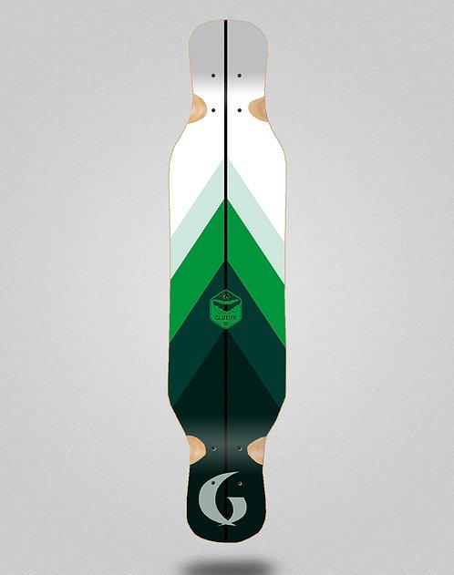 Glutier Green style longboard deck 46x10