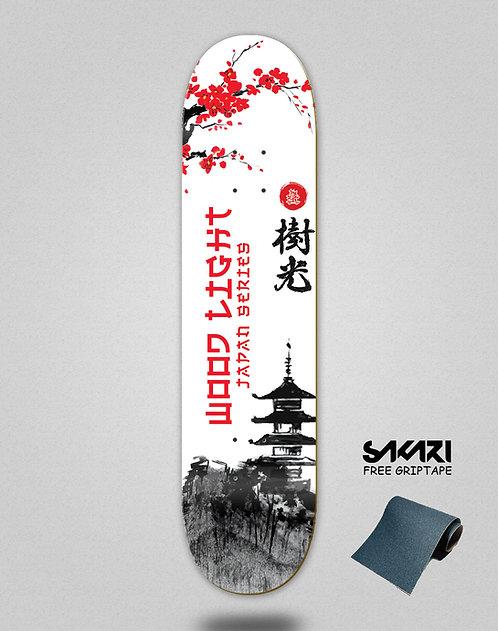 Wood light skate deck Japan series palace