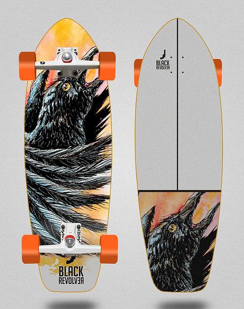 Black Revolver surfskate SGI trucks Acril Cuervo 31