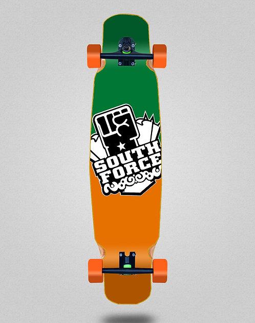 South force Logo irish longboard bamboo dance complete 46x9