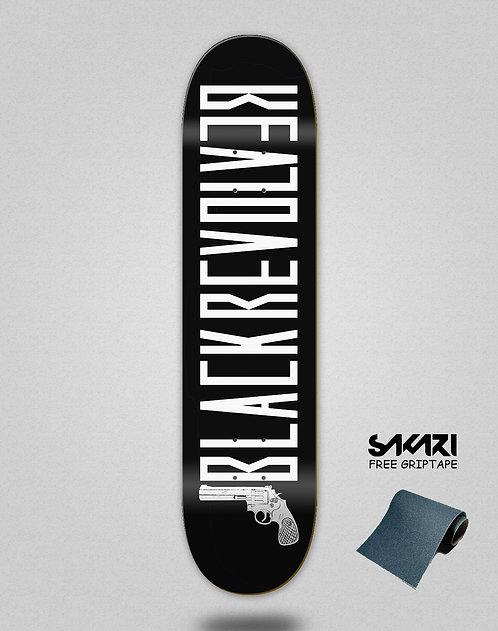Black Revolver skate deck Color black grey