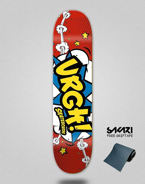 Urgh skate deck Comic red