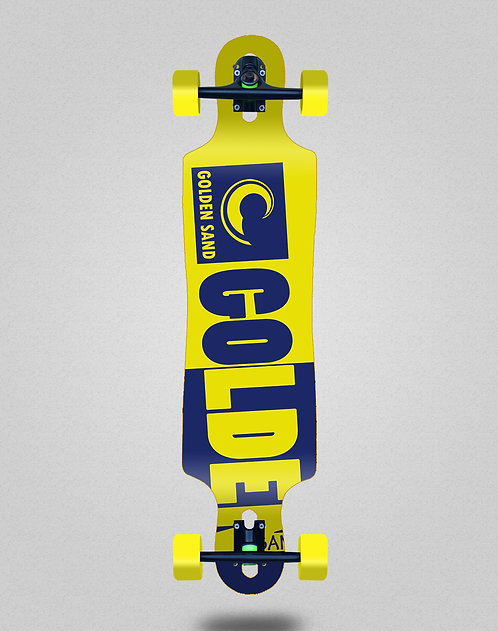 Golden Sand Degraded tone yellow blue longboard complete 40x9
