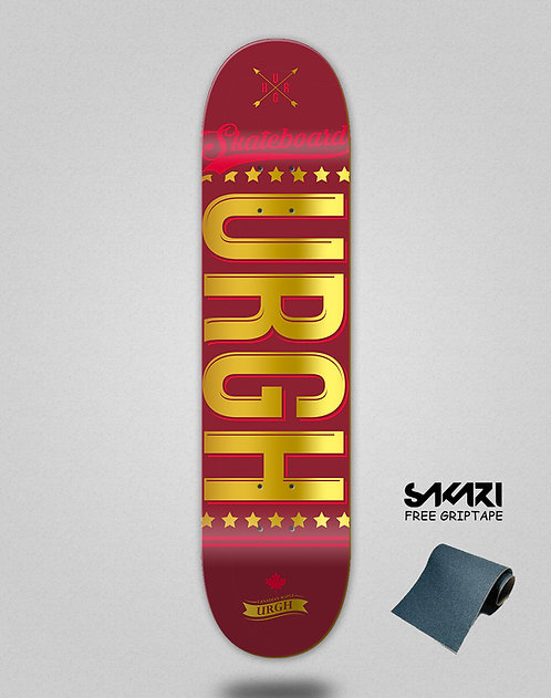 Urgh skate deck OG red gold