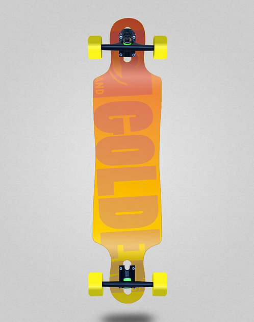 Golden Sand Degraded red yellow longboard complete 40x9