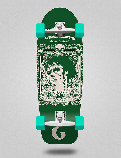Glutier surfskate - Guadalupe green 30,5