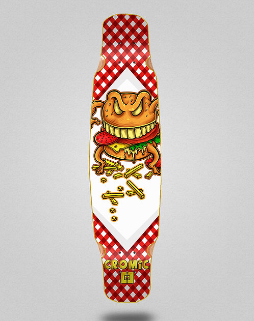 Cromic Burger crazy food longboard deck dance 46x9