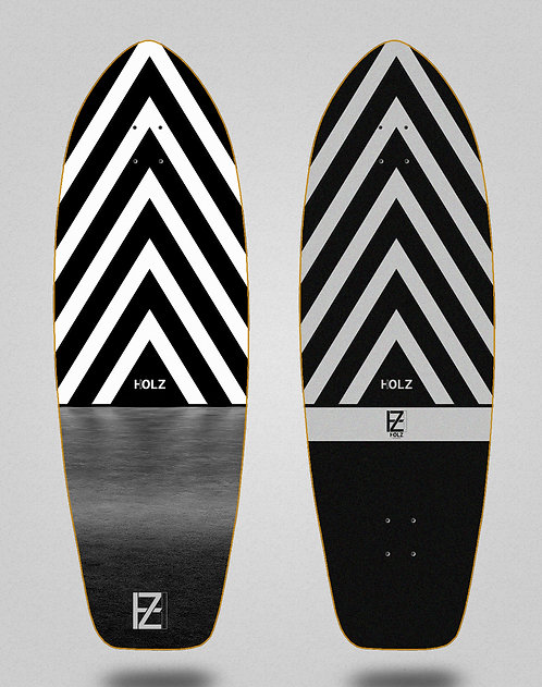 Holz surfskate deck dark Gram 31
