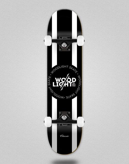 Wood light Classic black white lines skate complete