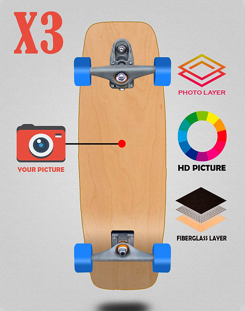 Personalizador surfskate complete t12 27.25 X3 unidades