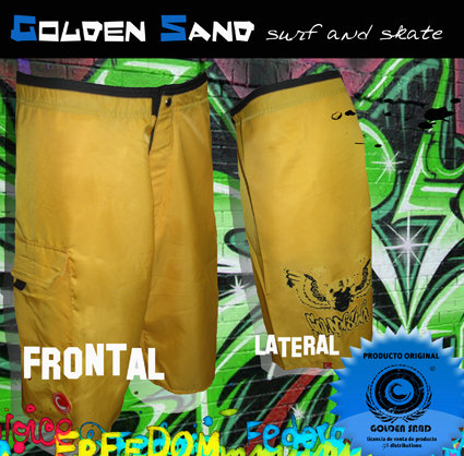 GOLDEN SAND. Boardshort Angel face