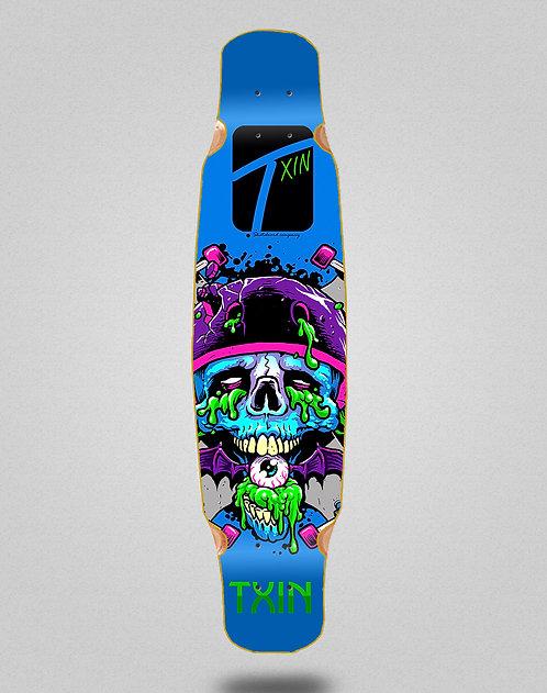 Txin Downhill dead longboard deck dance mix bamboo 46x9