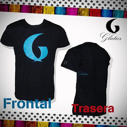 Glutier. surfskate T-shirt blue blue