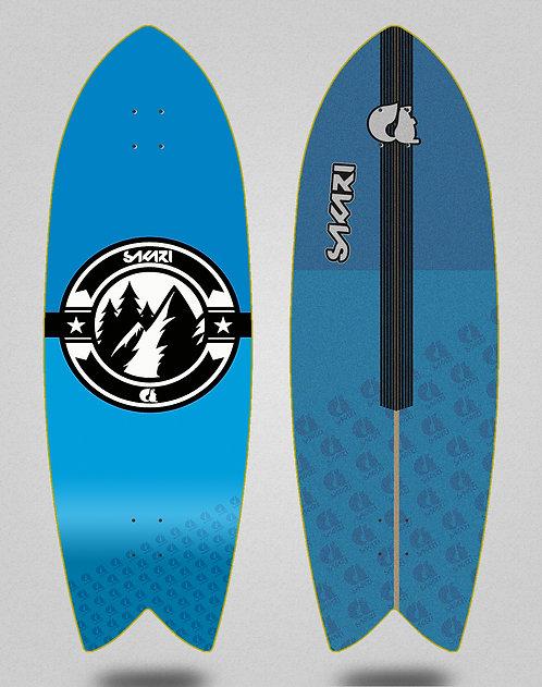 Sakari surfskate deck Downhill juice blue 32 fish