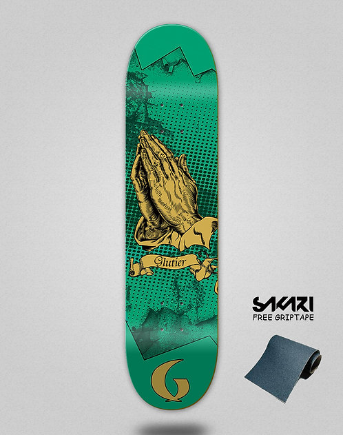 Glutier Miracle green skate deck