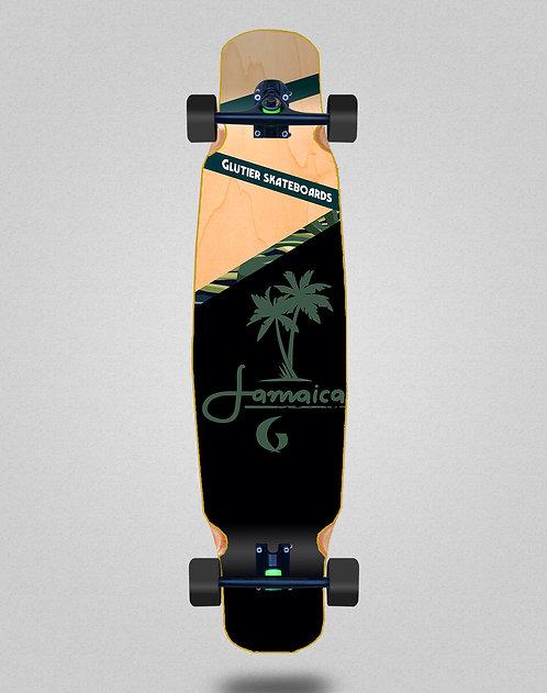 Glutier Jamaica wood longboard dance complete 46x9
