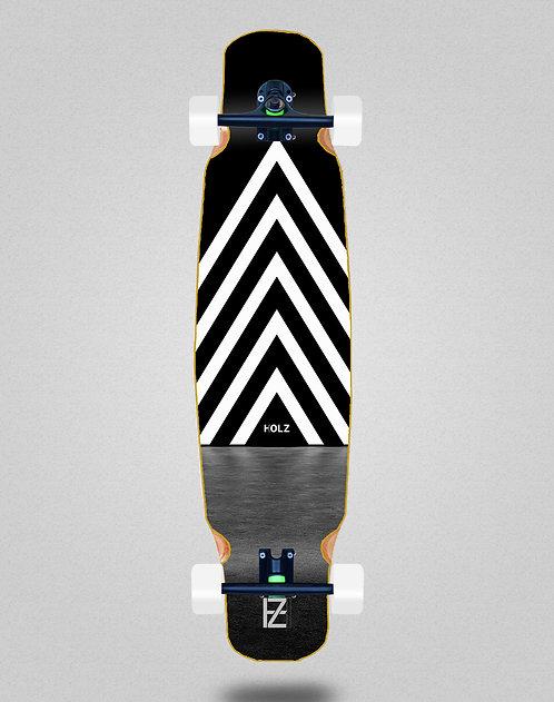 Holz dark gram longboard bamboo dance complete 46x9