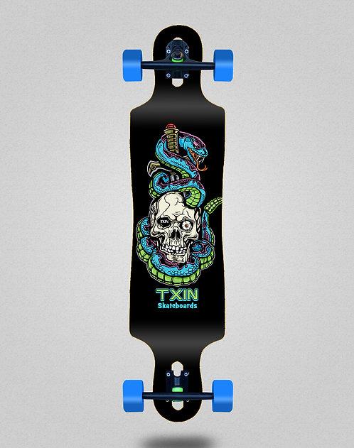 Txin Blue snake longboard complete 40x9