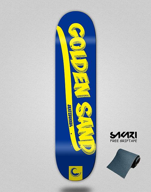 Golden Sand Yank blue yellow skate deck