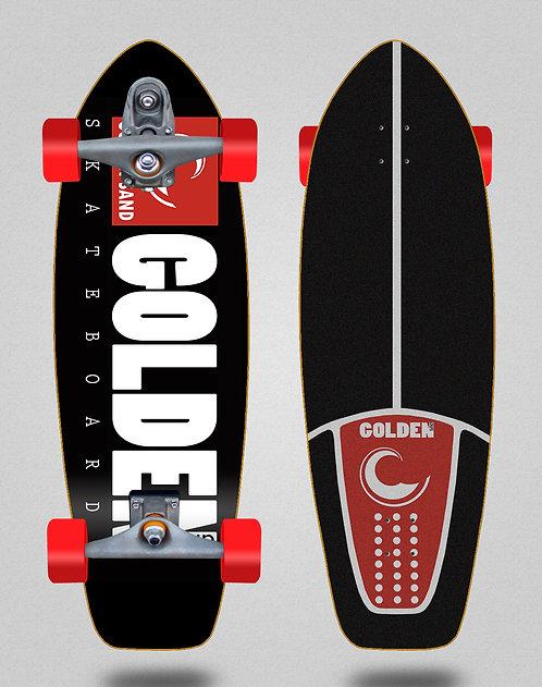 Golden Sand surfskate T12 trucks icon black red 31