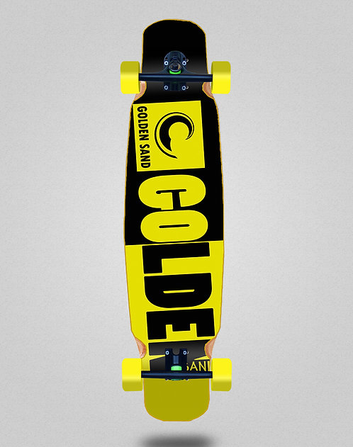 Golden Sand Degraded tone black yellow longboard dance complete 46x9