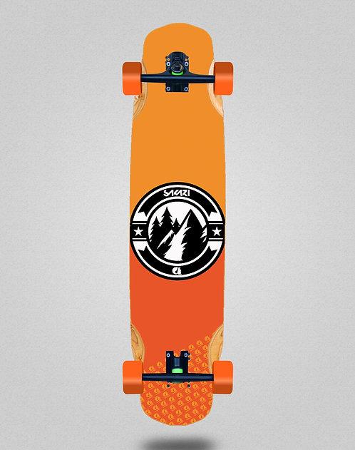 Sakari Downhill juice orange longboard complete 38x8.45