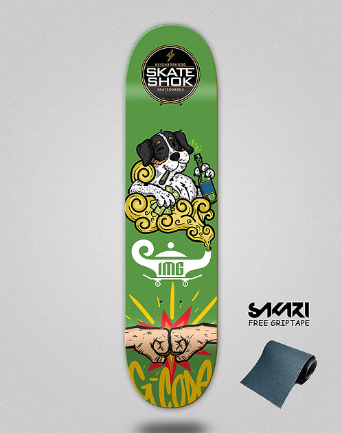 Skate shok deck G-Code green