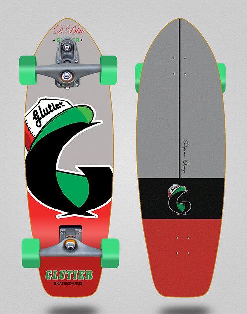 Glutier surfskate : California red 31 T12 trucks