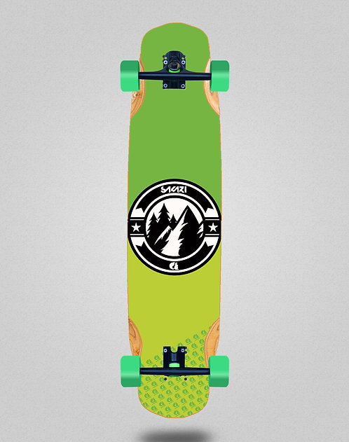 Sakari Downhill juice green longboard complete 38x8.45