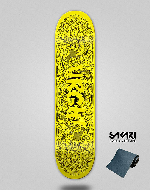 Urgh skate deck Garden yellow
