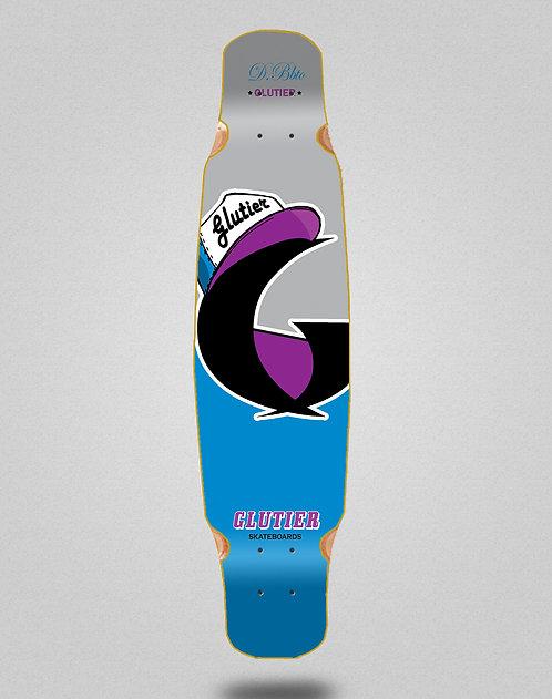 Glutier California blue longboard deck dance 46x9