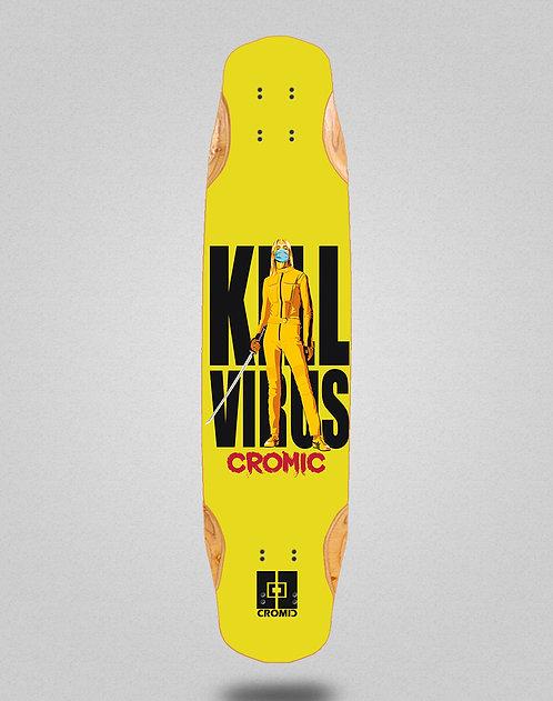 Cromic Covid Kill virus longboard deck 38x8.45