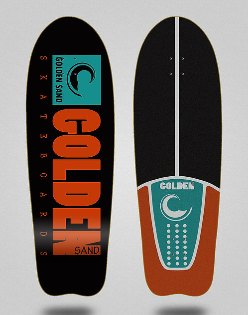 Golden Sand deck Icon black turquoise orange 31 fish