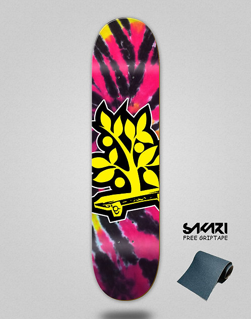 Wood light skate deck Tie dye Neto