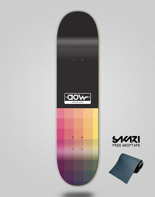 Aow Pixels black skate deck