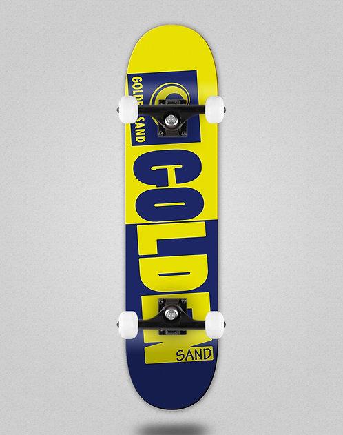 Golden Sand Degraded tone blue yellow skate complete