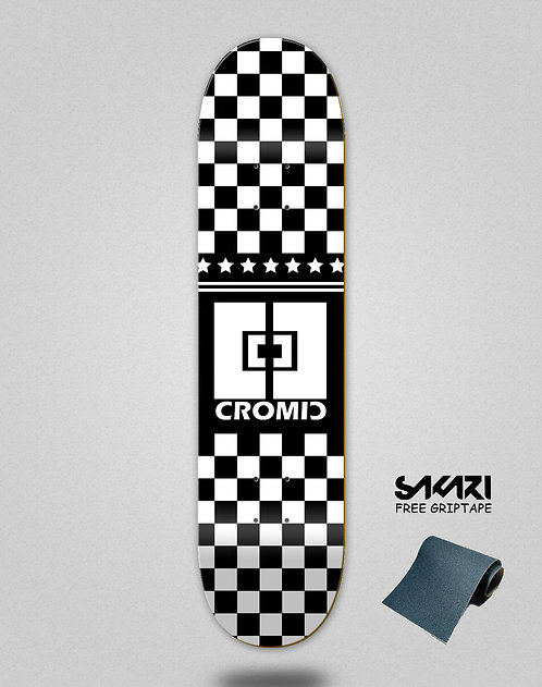 Cromic Squares black white skate deck