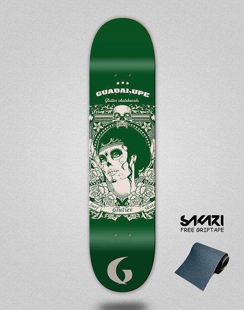 Glutier Guadalupe green skate deck