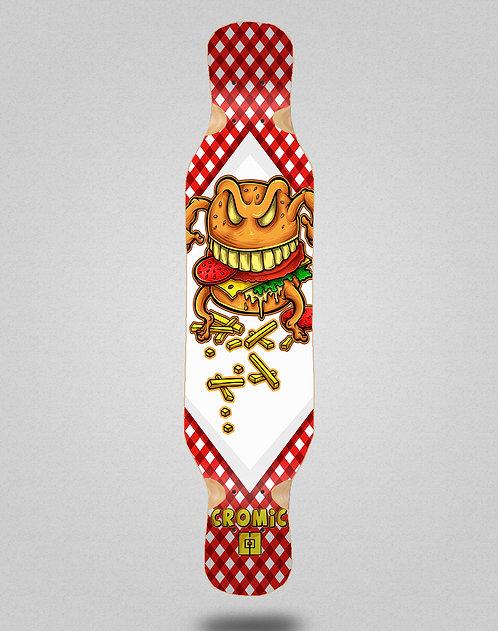 Cromic Burger crazy food longboard deck 46x10