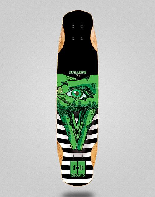 Cromic Eduardo Prieto Classic green longboard deck 38x8.45