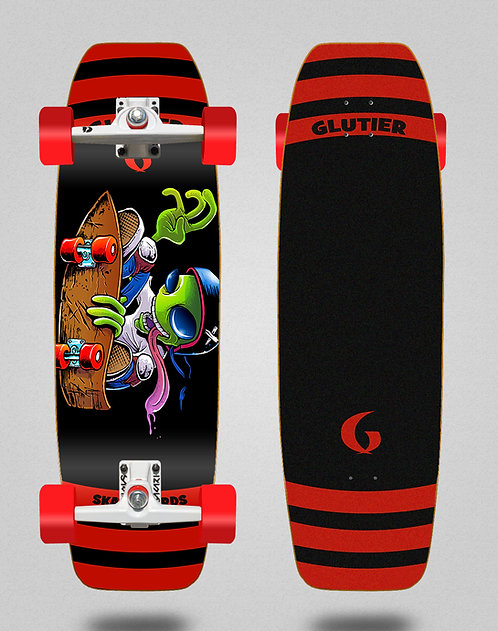 Glutier surfskate - Chentrail 32 tail nose SGI trucks
