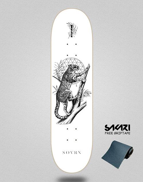 SOVRN skate deck Felis 8.0